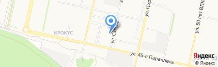 Южный на карте Ставрополя