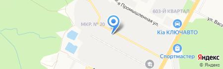 Мартынов А.А. на карте Ставрополя