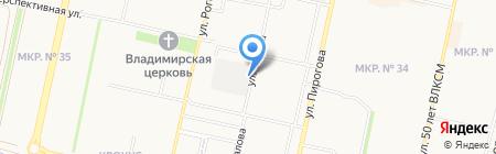 Маэстрия на карте Ставрополя