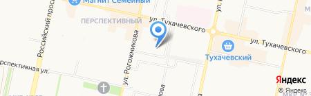 Гастроном на карте Ставрополя