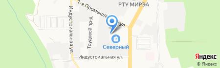 Металлика-М на карте Ставрополя