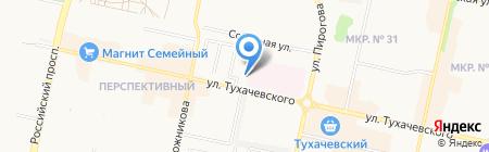 Банкомат Банк Возрождение на карте Ставрополя