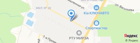 Шиномонтажная мастерская на Промышленной 2-й на карте Ставрополя