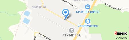 Новомарьевские бани на карте Ставрополя