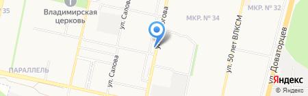 Юг-Ставтепло на карте Ставрополя