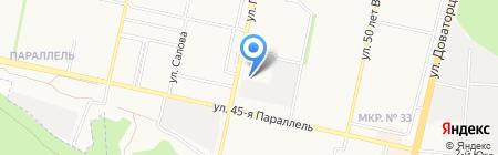 Искра на карте Ставрополя