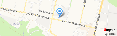 Силуэт на карте Ставрополя
