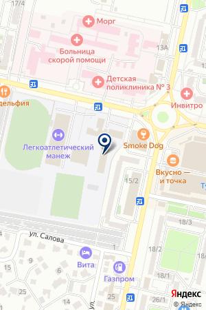 Эстетическая гимнастика на карте Ставрополя