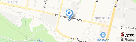 Ferrum на карте Ставрополя