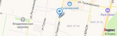 Мария на Пирогова на карте Ставрополя