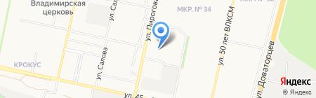 Экономка на карте Ставрополя