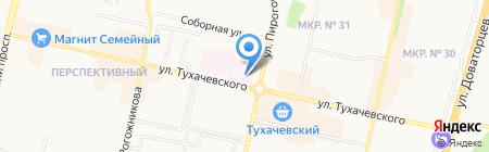 Клиническая поликлиника №6 на карте Ставрополя