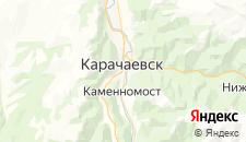 Гостиницы города Карачаевск на карте