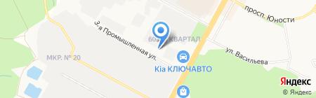 Штрафная стоянка транспортных средств на карте Ставрополя