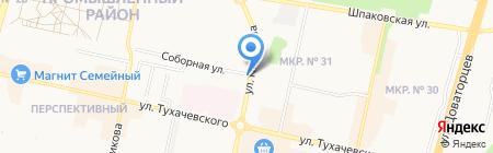 Автомаркет на карте Ставрополя