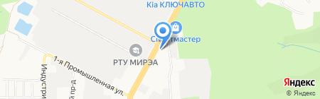 Пальма на карте Ставрополя