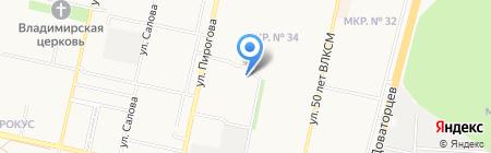 Почтовое отделение №45 на карте Ставрополя