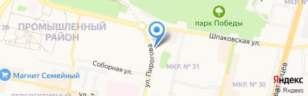 Уборкин на карте Ставрополя