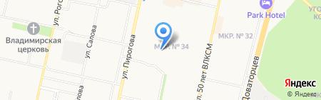 Детская хореографическая школа г. Ставрополя на карте Ставрополя