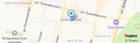 Импровизаж на карте Ставрополя
