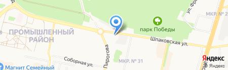 Автогаз-сервис на карте Ставрополя