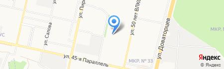 Кристина на карте Ставрополя