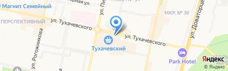 Чегемский молочный магазин на карте Ставрополя