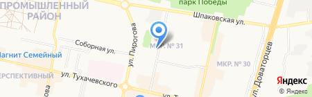 Ставропольская хозрасчетная поликлиника на карте Ставрополя