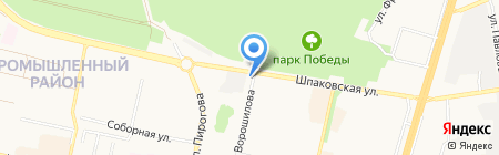 Мегатекс на карте Ставрополя