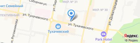 Лето Банк на карте Ставрополя