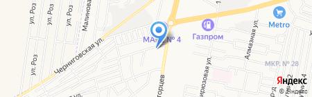 Банкетио на карте Ставрополя