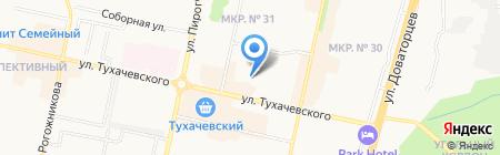 Тесис на карте Ставрополя