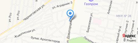Краевое строительно-транспортное бюро на карте Ставрополя
