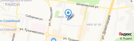Средняя общеобразовательная школа №22 на карте Ставрополя