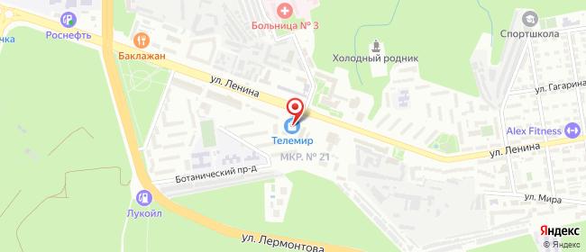 Карта расположения пункта доставки Ставрополь Ленина в городе Ставрополь