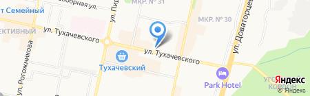 Ермолинские полуфабрикаты на карте Ставрополя