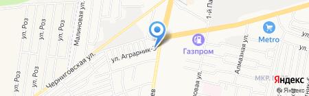 Скоростная автомойка на карте Ставрополя