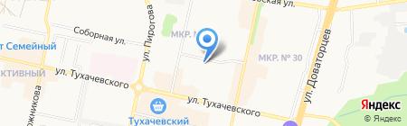 Детский сад №58 на карте Ставрополя