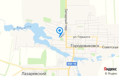 Местоположение на карте пункта техосмотра по адресу Респ Калмыкия, г Городовиковск, ул Буденного, д 62Б