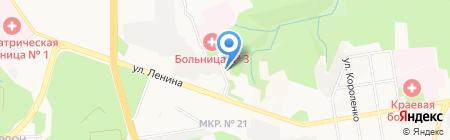 Управление Пенсионного фонда РФ по г. Ставрополю на карте Ставрополя