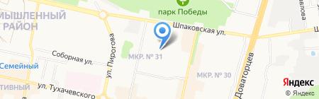Детский сад №4 на карте Ставрополя