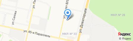 Поляна на карте Ставрополя