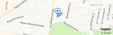 Южные ворота на карте Ставрополя