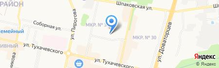 Средняя общеобразовательная школа №21 на карте Ставрополя