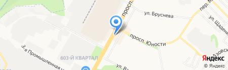 Ставрополь-Транстур на карте Ставрополя