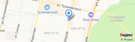 Башмачок на карте Ставрополя