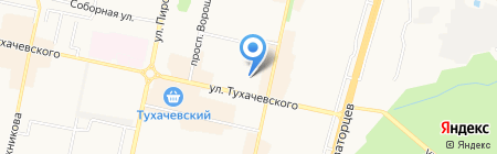 Телерадиомастер на карте Ставрополя