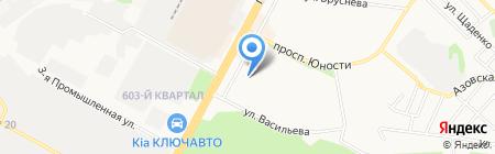 Васильевский на карте Ставрополя