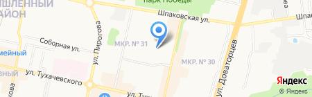 София на карте Ставрополя