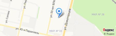 7 НЕБО на карте Ставрополя